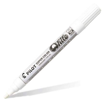 Маркер перманентный PILOT Super Color 2-4мм лаковый белый (1 штука)