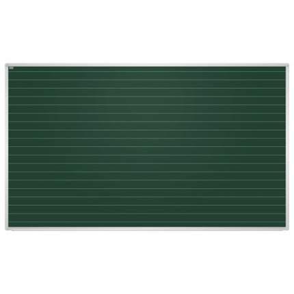 Доска для мела магнитная 2x3 Education в линию 85x100 см зеленая