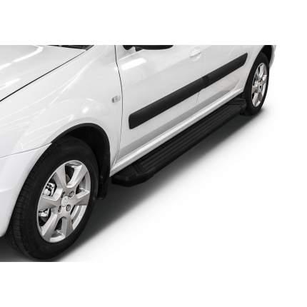 """Пороги алюминиевые """"Black"""" Rival Lada Largus универсал, универсал Cross, 193 см, 2 шт"""