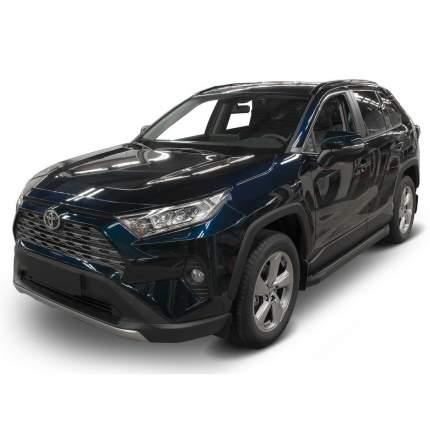 """Пороги на авто """"Black"""" RIVAL для Toyota RAV4 XA50 2019-н.в., 180 см, 2 шт., F180ALB.5710.1"""