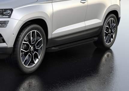 """Пороги на автомобиль """"Black"""" RIVAL для Skoda Karoq 2020-н.в. 180 см, 2 шт. F180ALB.5103.1"""