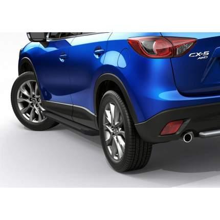 """Пороги на автомобиль """"Black"""" Rival для Mazda CX-5 I 2011-2017, 173 см, F173ALB.3801.3"""