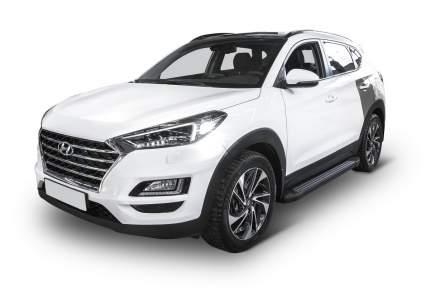 "Пороги алюминиевые ""Black"" Rival Hyundai Tucson III /Kia Sportage IV , 173 см, 2 шт"