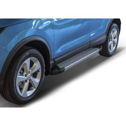 Пороги Silver RIVAL для Nissan Qashqai 14-/X-Trail 15-/Renault Koleos 16-20, F173AL.4113.1