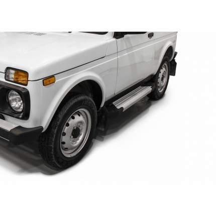 """Пороги на автомобиль """"Silver"""" Rival ВАЗ 2121 (4x4) 3-дв. (вкл. Urban) 1977-, F128AL.6004.1"""
