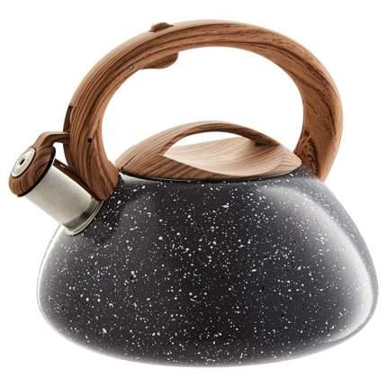 Чайник со свистком Alpenkok 3 литра серый гранит