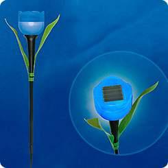 Светильник на солнечной батарее садовый Синий тюльпан