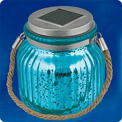 Светильник на солнечной батарее садовый BLUE JAR