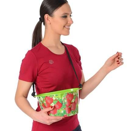 Емкость для сбора ягод Клубничка (зеленая), 3 л