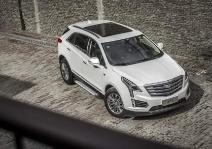 """Пороги на автомобиль """"Bmw-Style круг"""" Rival Cadillac XT5 2016-н.в., 193 см, D193AL.0801.1"""