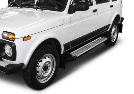 "Пороги алюминиевые ""Bmw-Style круги"" Rival Lada 4x4 2131 5-дв. , 180 см, 2 шт"