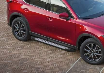 "Пороги алюминиевые ""Bmw-Style круги"" Rival Mazda CX-5 II , 173 см, 2 шт., D173AL.3802.1"