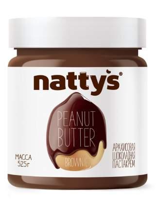 Паста Nattys Brownie арахисовая шоколадная 525 г