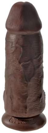 Коричневый фаллоимитатор на присоске Chubby 22,9 см Pipedream