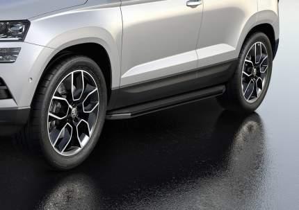 """Пороги алюминиевые """"Premium"""" Rival Skoda Karoq 2020-н.в., 180 см, 2 шт., A180ALP.5103.1"""