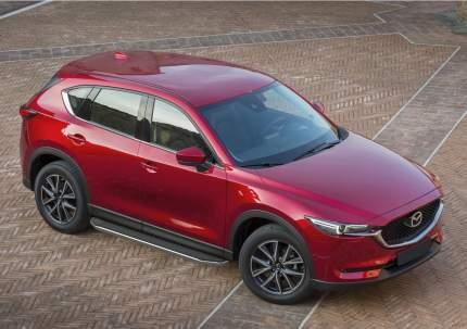 """Пороги на автомобиль """"Premium"""" Rival для Mazda CX-5 II 2017-н.в., 173 см, A173ALP.3802.1"""