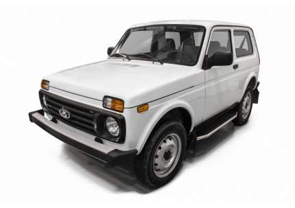 """Пороги алюминиевые """"Premium"""" Rival Lada 4x4 2121 внедорожник 3-дв. 1977-, 128 см, 2 шт"""