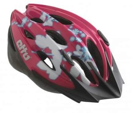 Велосипедный шлем Etto Shark, белый/розовый, XS/L