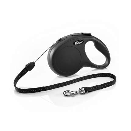 Поводок-рулетка для собак flexi New Classic трос, черный, S, до 12 кг, 8 м