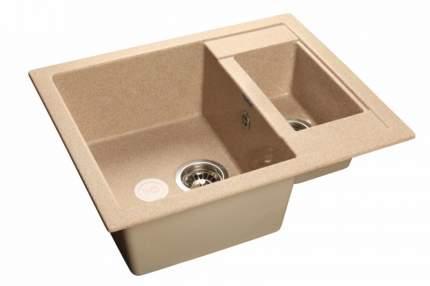 Мойка для кухни керамическая GranFest Quadro Q-610 K пес