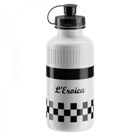 Велосипедная фляга Elite Eroica France Classic 500 мл белая/черная