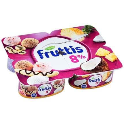 Продукт йогуртный Фруттис Суперэкстра пиноколада банана-сплит 8% 115 г
