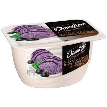 Продукт Даниссимо творожный со вкусом сорбета из черной смородины и мяты 5.6% 130 г