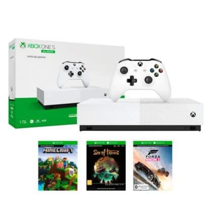 Игровая приставка Microsoft Xbox One S 1TB All Digital Sea of Thieves, Minecraft, Forza 3