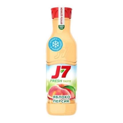 Сок J7 пастеризованный с мякотью яблоко, персик 850 мл