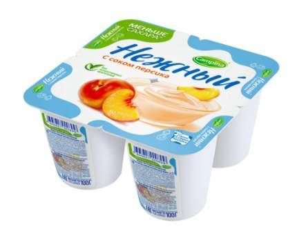 Йогуртный продукт Кампина нежный с соком персика 1.2% 100 г