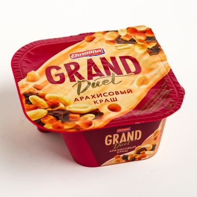 Творожок Ehrmann grand duet арахисовый краш 135 г