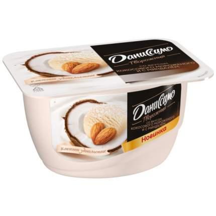 Продукт Даниссимо творожный Кокосовое удовольствие кокосовое мороженое, миндаль 6.0% 130 г