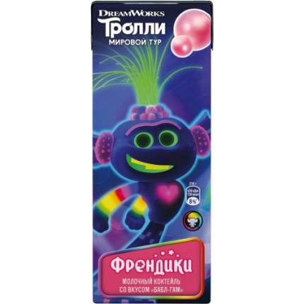 Коктейль Френдики ультрапастеризованный бабл гам 2% 210 г