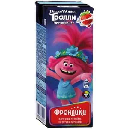 Коктейль Френдики ультрапастеризованный клубника, злаки 2% 210 г