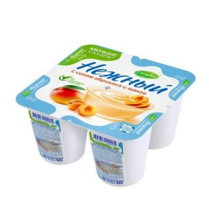 Продукт йогуртный  нежный с соком абрикоса и манго 1.2% 100 г