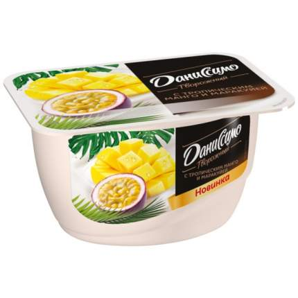 Продукт Даниссимо творожный с тропическим манго и маракуйей 5.6% 130 г