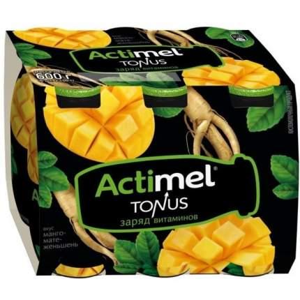 Продукт Актимель тонус манго, мате, женьшень 2.5% 100 г