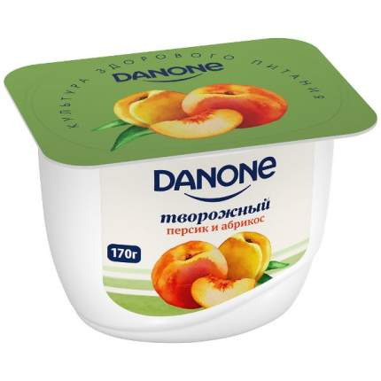 Молочный продукт Данон творожный персик, абрикос 3.6% 170 г