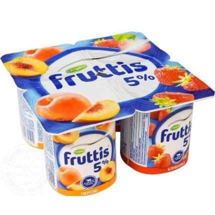 Продукт йогуртный Фруттис Сливочное лакомство клубника персик 5% 115 г