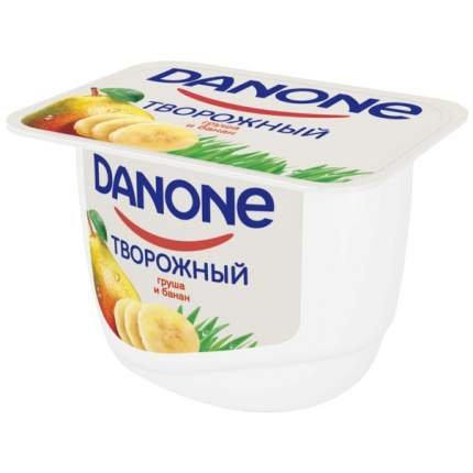 Молочный продукт Данон творожный груша, банан 3.6% 170 г