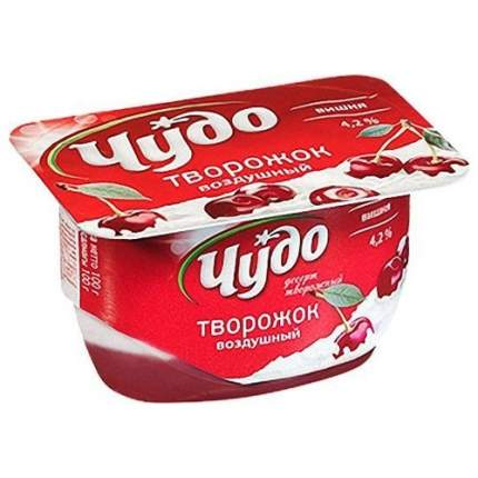 Десерт творожный чудо творожок бзмж вишня жир. 4.2 % 100 г пл/ст вбд россия