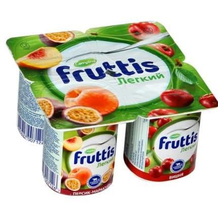 Продукт йогуртный Фруттис Легкий персик маракуйя вишня 0.1% 110 г