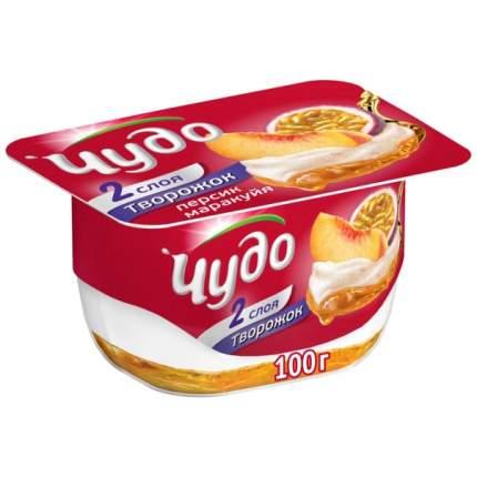 Десерт творожный чудо творожок бзмж персик/маракуйя жир. 4.2 % 100 г пл/ст вбд россия
