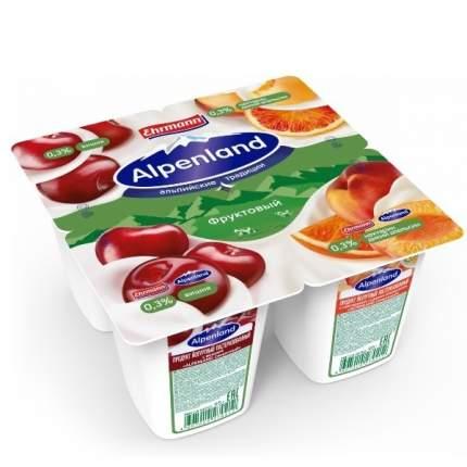 Йогуртный продукт Альпенлэнд вишня нектарин-дикий апельсин 0.3% 380 г