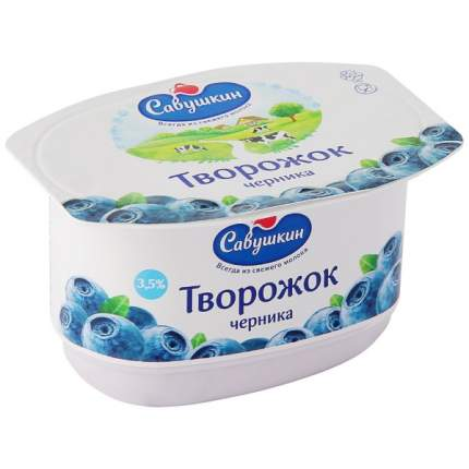 Паста Савушкин творожная черника 3.5% 120 г