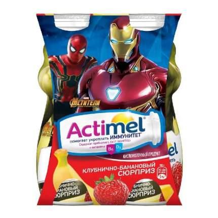 Кисломолочный напиток Actimel kids клубника, банан 2.5% 100 г