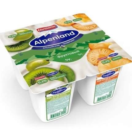 Продукт йогуртный Альпенлэнд киви крыжовник ананас 0.3% 95 г