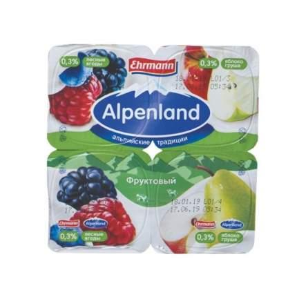 Йогуртный продукт Альпенлэнд лесная ягода яблоко груша 0.3% 380 г