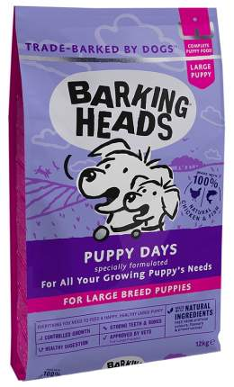 Сухой корм для щенков Barking Heads Little Big Foot, крупные породы,курица,лосось,рис,12кг