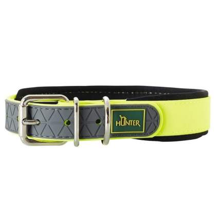 Ошейник Hunter Smart Convenience Comfort 55, обхват шеи 42-50 см, желтый неон